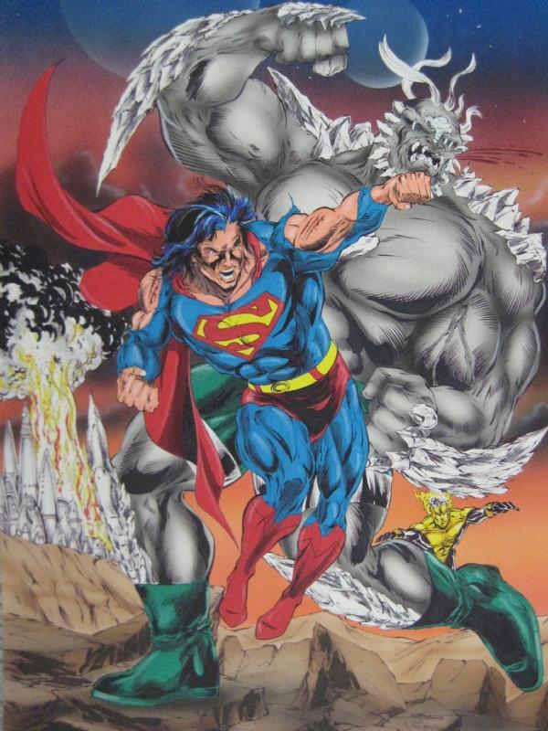 Superman Vs Doomsday In Doyle K Davis S Injustice Gang Dc Villains Or Masters Of Evil Marvel Villains Comic Art