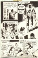 Don Heck Wonder Woman #234 p.7 WW in Bondage and Nazi Strong Man Armageddon Comic Art