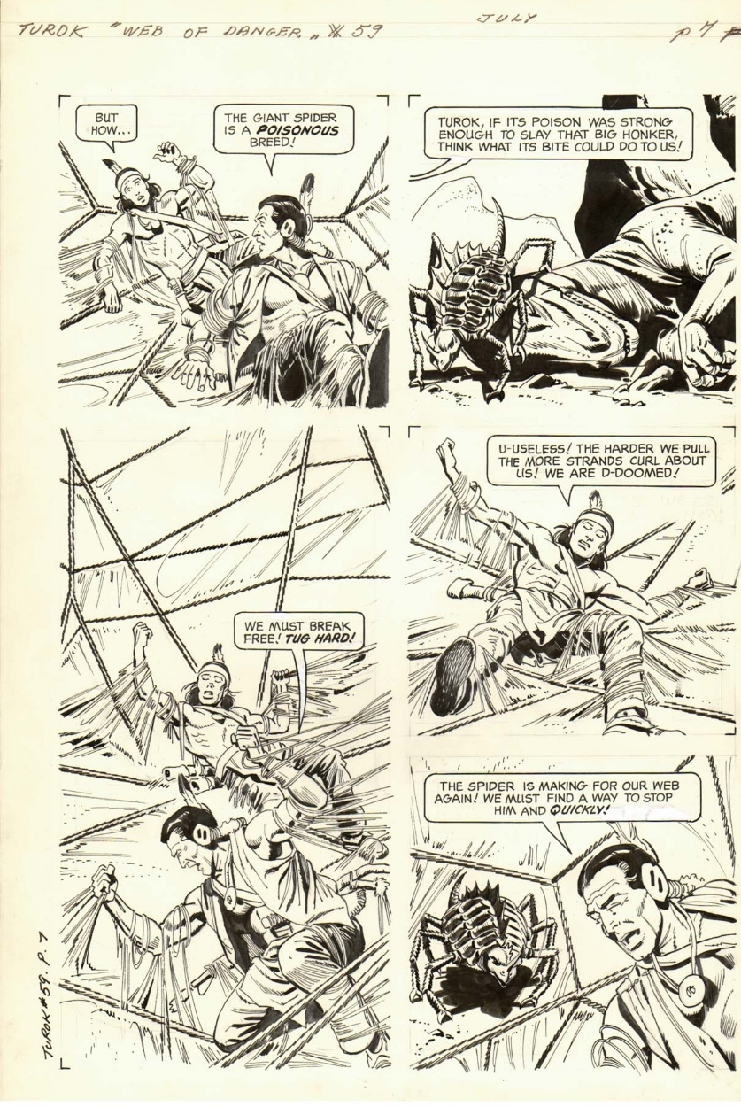 Turok Son Of Stone 59 Page 7 In Davide Occhicone S Giovanni Ticci Alberto Giolitti Comic Art Gallery Room
