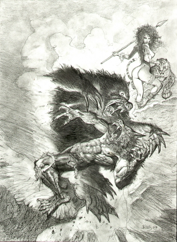 werewolf vs bear, in Andy Brown's SIMON BISLEY COMMISSIONS ...