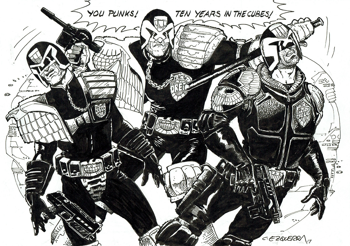 Judge Dredd strip by Carlos Ezquerra