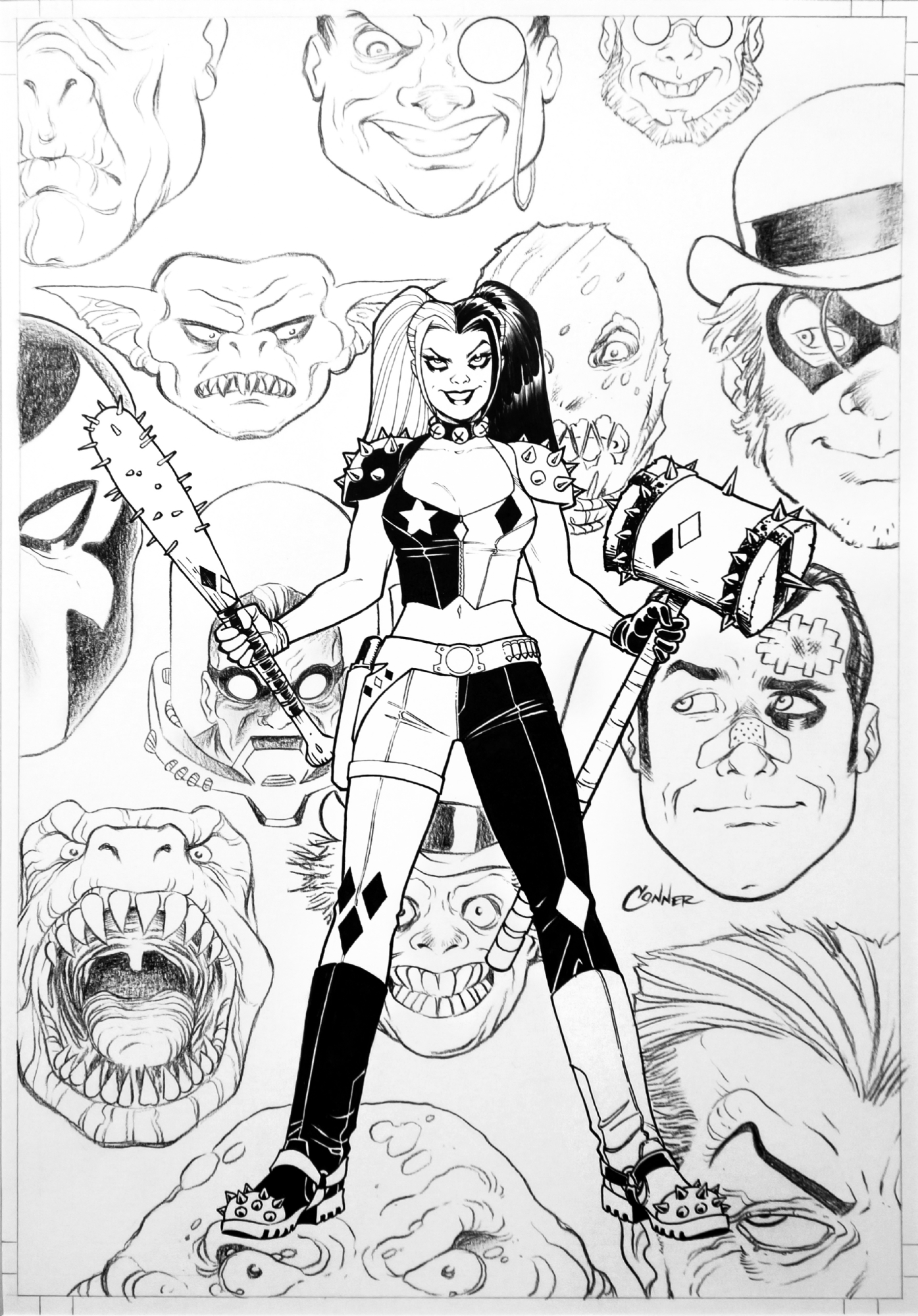 Amanda Conner Harley Quinn 24 Vol 2 Cover In Marc W S 02 Covers Comic Art Gallery Room