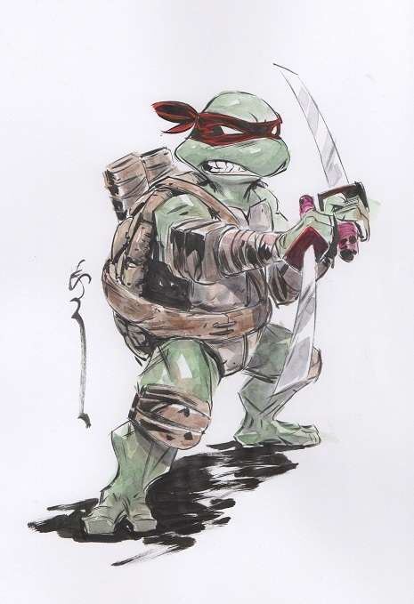 Teenage Mutant Ninja Turtles Leonardo Dustin Nguyen In Blue Bandana S Teenage Mutant Ninja Turtles Comic Art Gallery Room