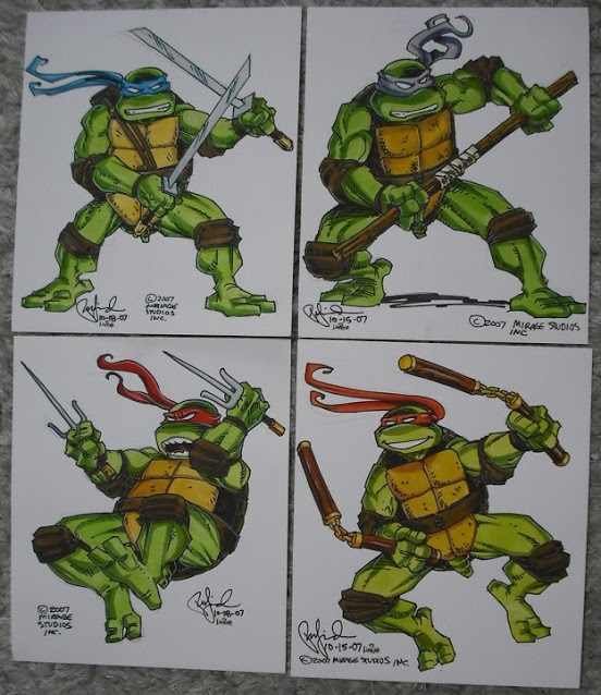 Teenage Mutant Ninja Turtles Leonardo Donatello Raphael Michelangelo 2007 Peter Laird Steve Lavigne In Blue Bandana S Teenage Mutant Ninja Turtles Comic Art Gallery Room