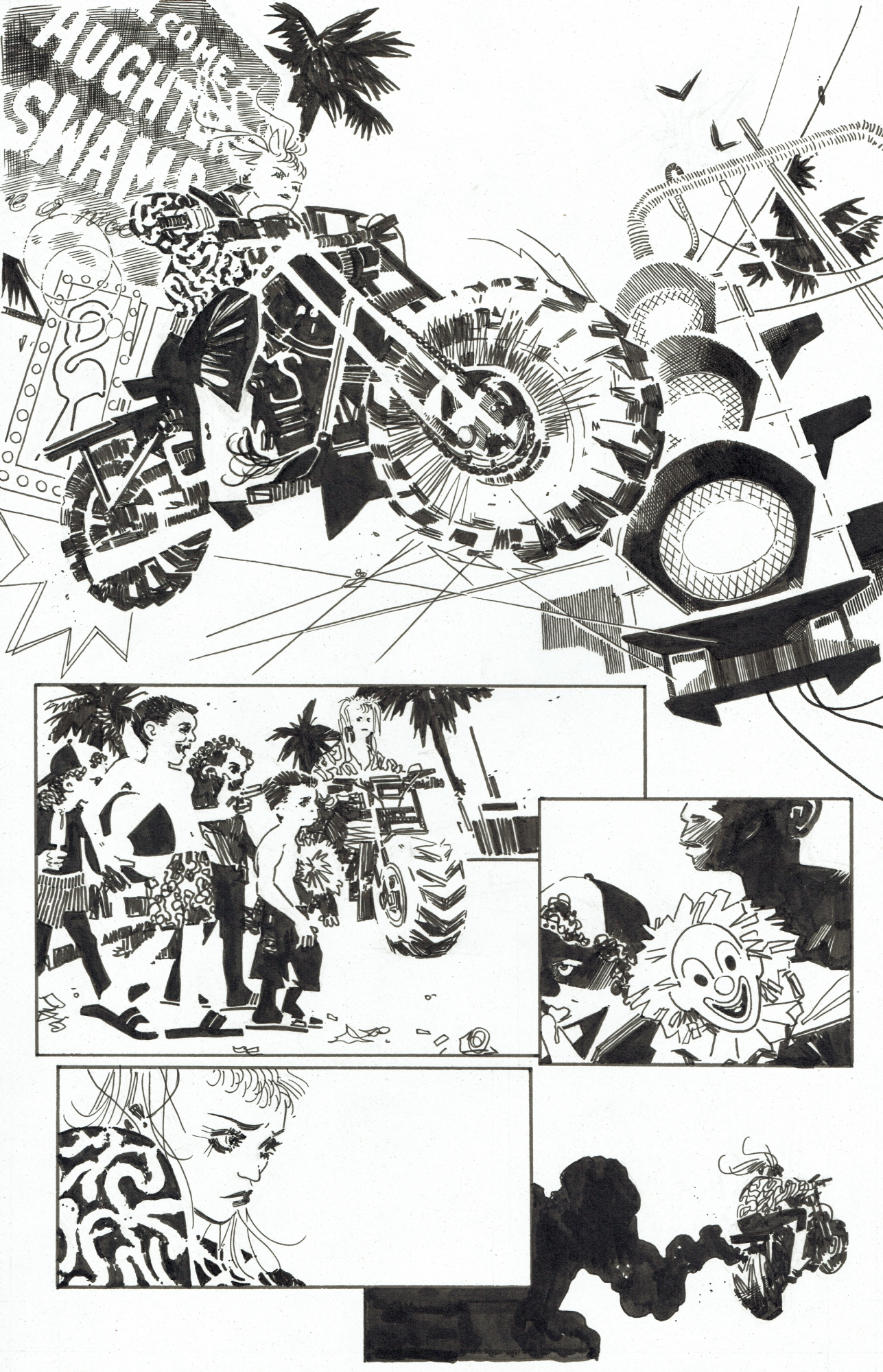 Harley Quinn Black White Red Issue 10 Page 2 In Tim Durie S Harley Quinn B W R Comic Art Gallery Room