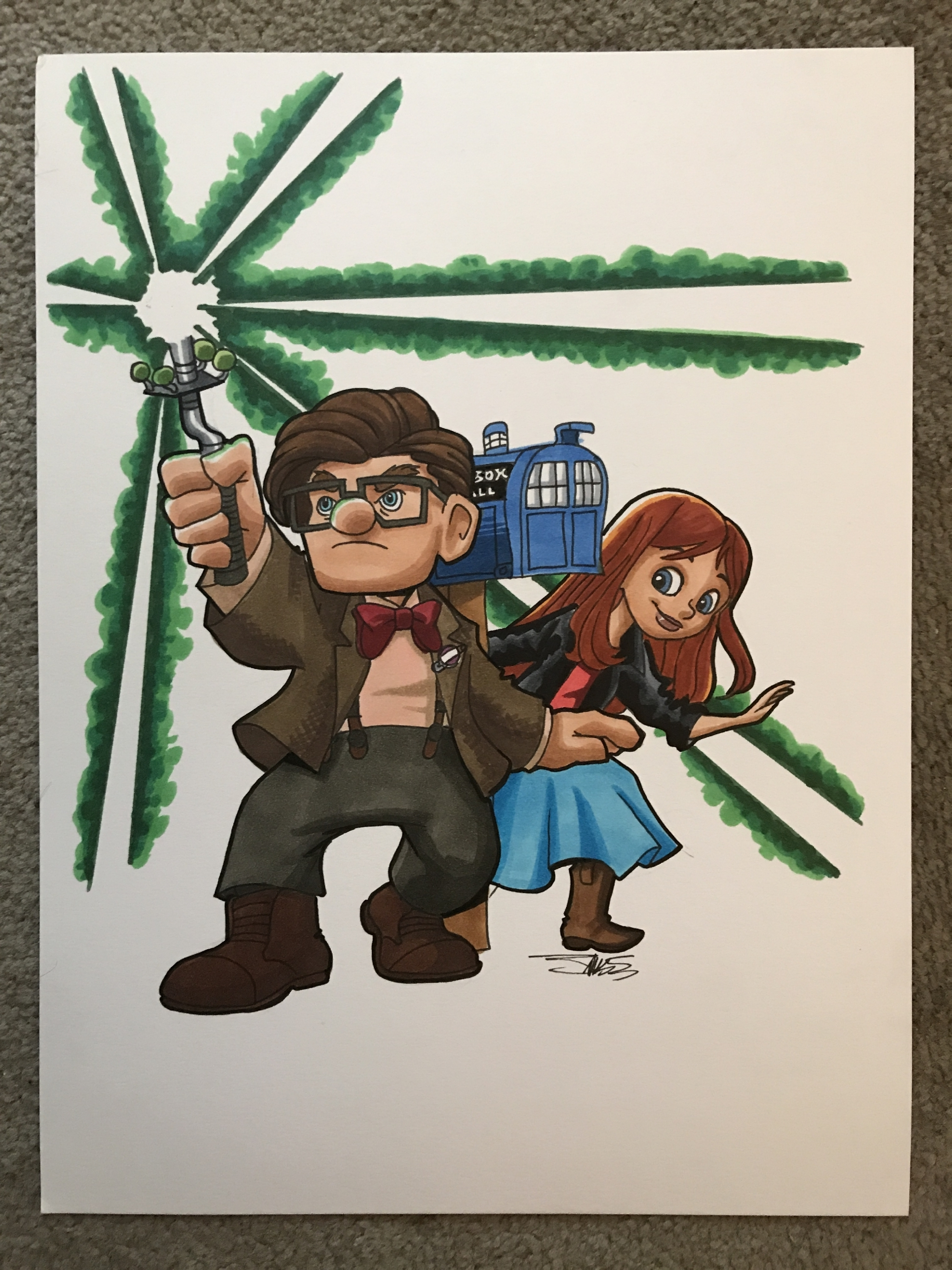 Carl Ellie As The Eleventh Doctor Amy Up Doctor Who Mashup By James Silvani In Eric Peters S Doctor Who Comic Art Gallery Room