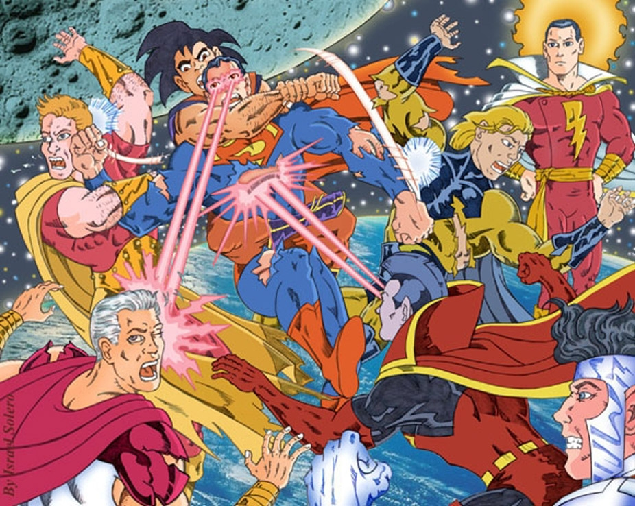 Eliminate Superman Vs Hyperion Goku Sentry Supreme Gladiator Mr Majestic Captain Marvel Clr In Israel Algarin S S 01 Popular Images Colored Comic Art Gallery Room