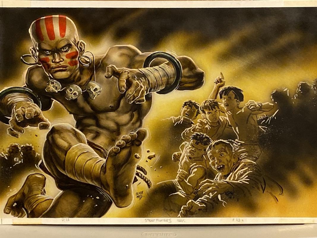 Dhalism Street Fighter Ii Artwork For Capcom Topps Merlin Sticker