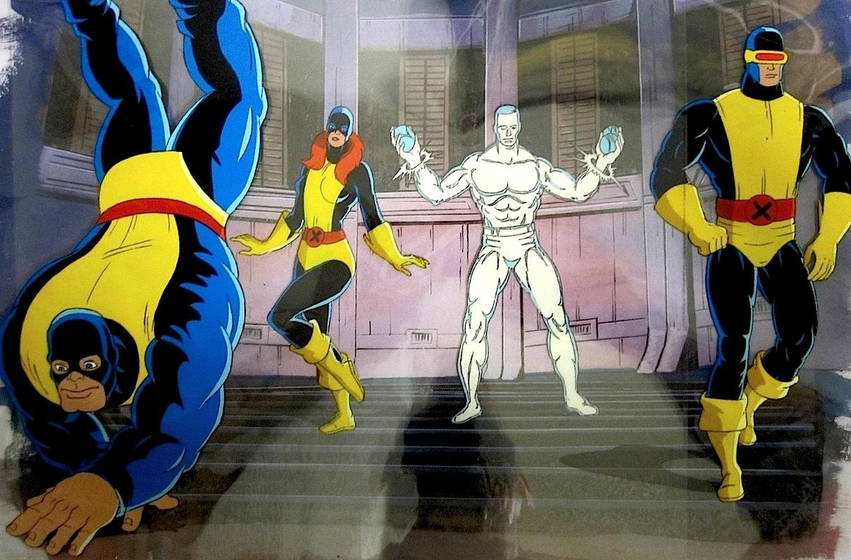 The Original X-Men Marvel Girl Cyclops Iceman Angel Beast District Made Men/'s Perfect Weight Crew T-Shirt Size XS To 4XL