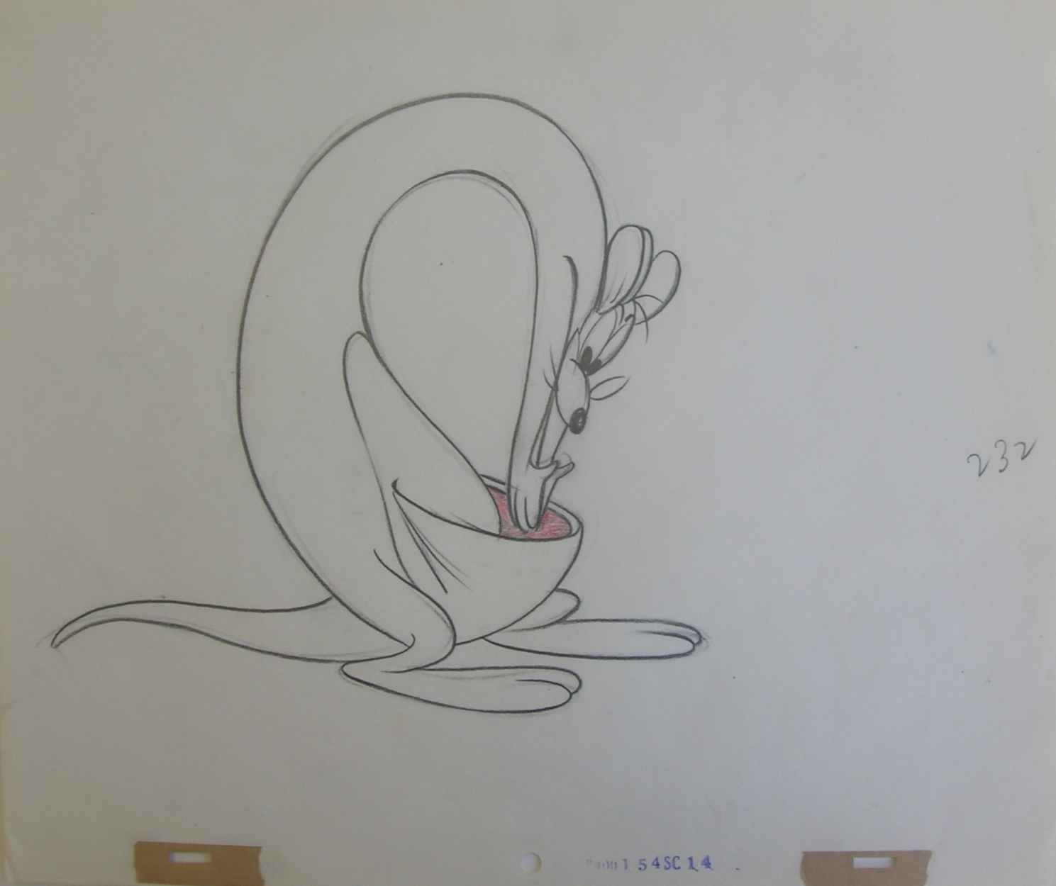 Animation Drawing From The Tex Avery Cartoon Slap Happy Lion