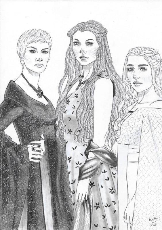 Cersei Lannister Margaery Tyrell And Daenerys Targaryen Game Of