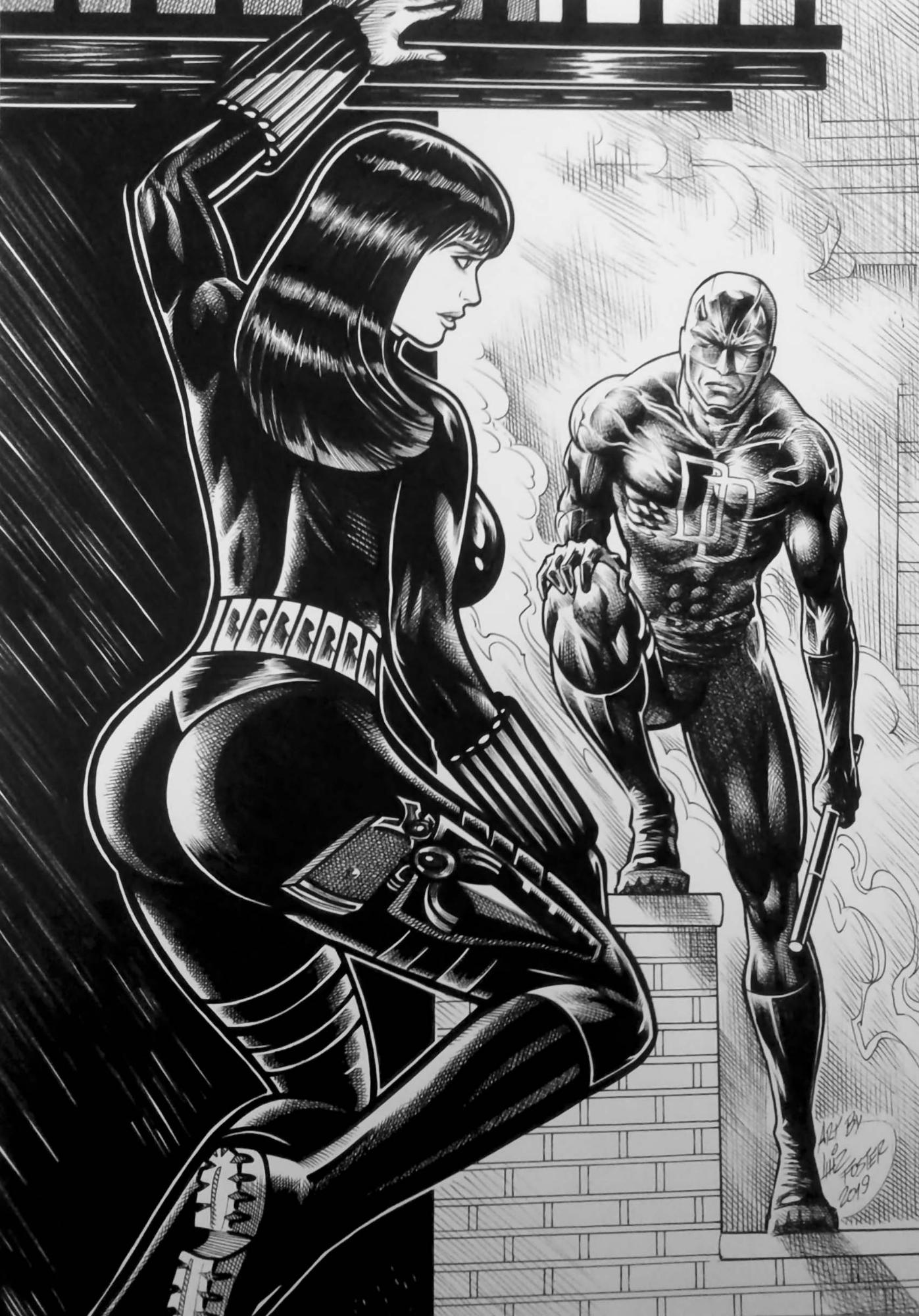 Black Widow and Daredevil by tzahler on DeviantArt