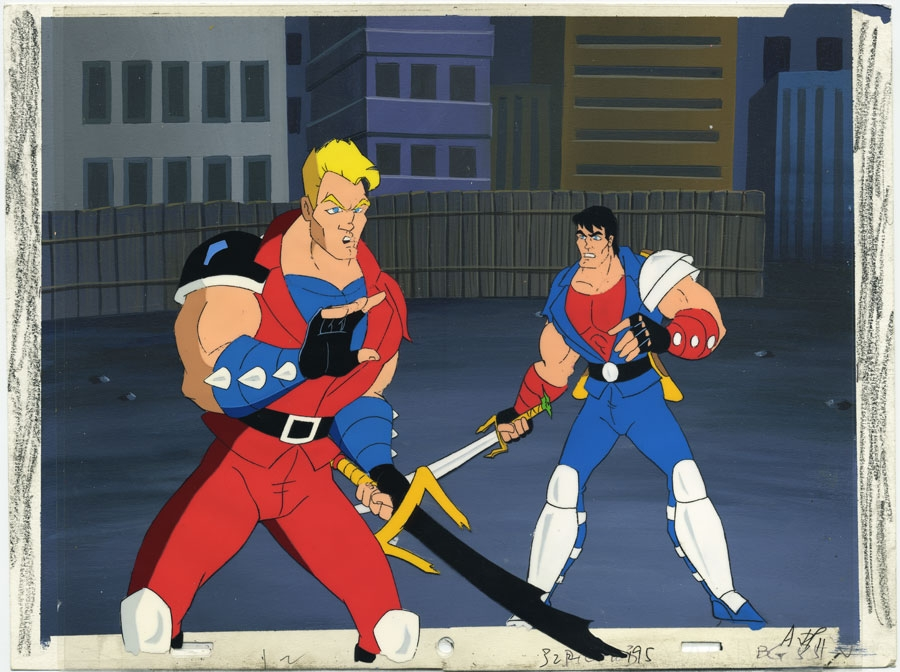 Double Dragon Animation Cel Setup In Trent C S Animation Cels