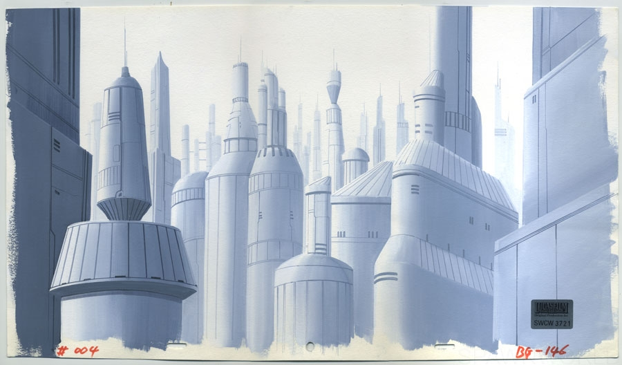 Star Wars Clone Wars Animation Background Painting In Trent C S