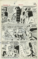 AVENGERS #26 PAGE 9 ( 1966, DON HECK ) CAPTAIN AMERICA, QUICKSILVER & SCARLET WITCH Comic Art