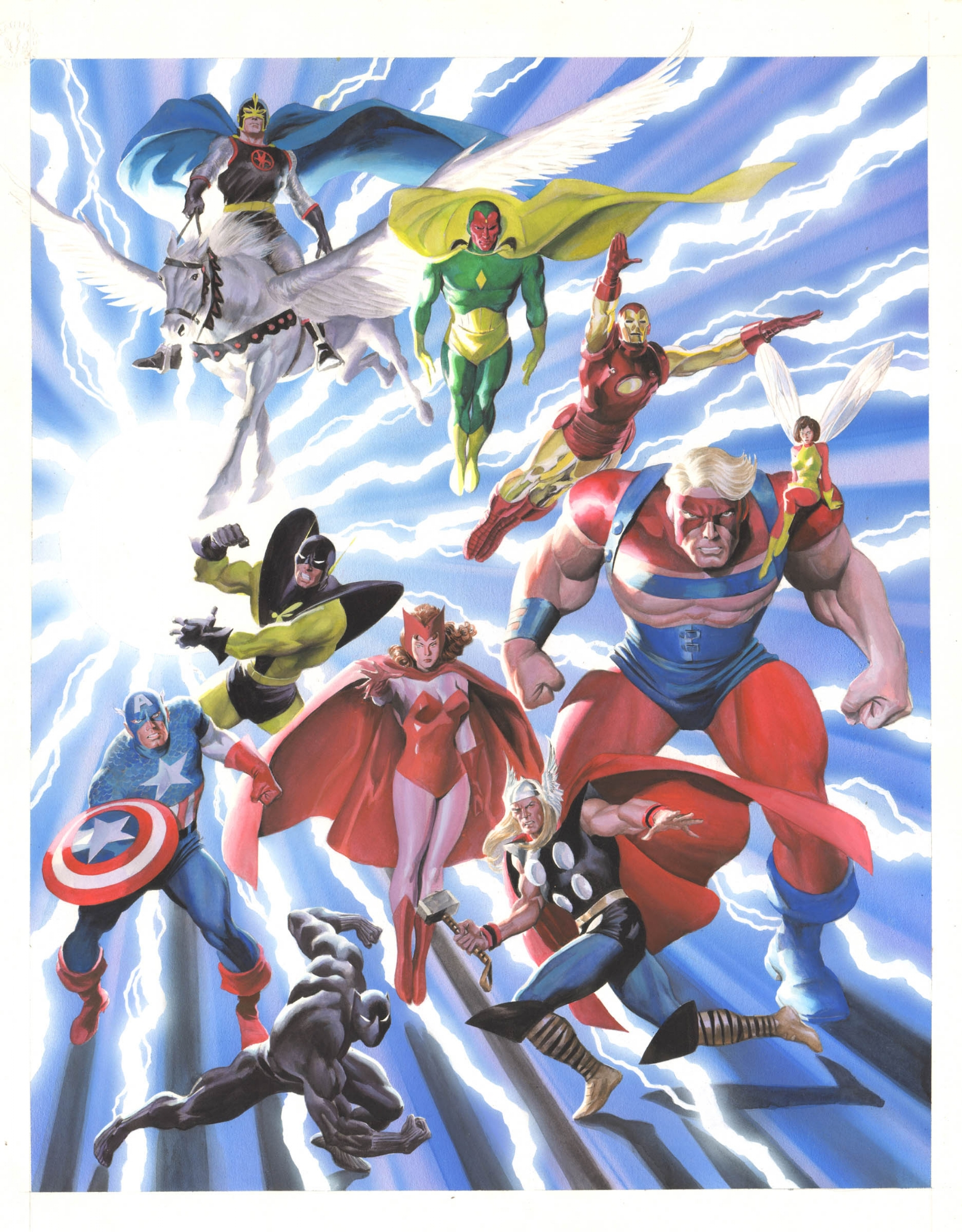 AVENGERS CLASSIC POSTER PAINTING ( 2001, ALEX ROSS ) A ...