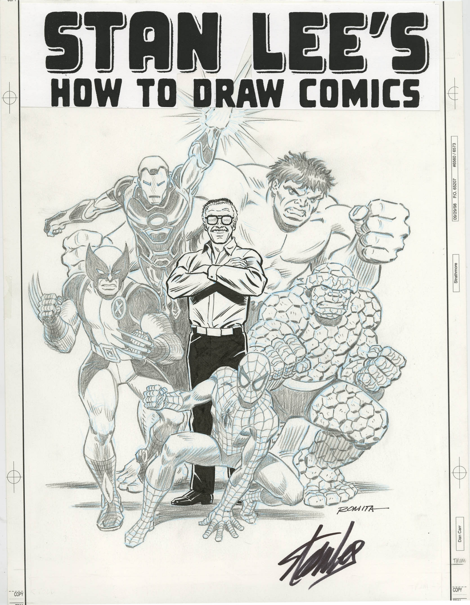 Stan Lee S How To Draw Comics Cover 2010 John Romita Marvel S Greatest Characters Including Stan Lee In Original Art Auctions And Exchange Comiclink Com S Closed Featured Auction Highlights 8 2018 Comic Art Gallery Room