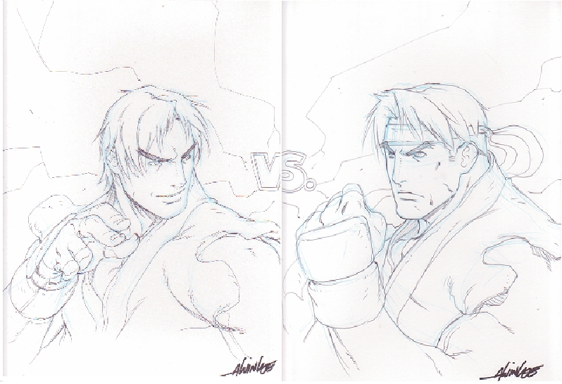 Alvin Lee Ken Vs Ryu Street Fighter In Kevin Stryker S Artist