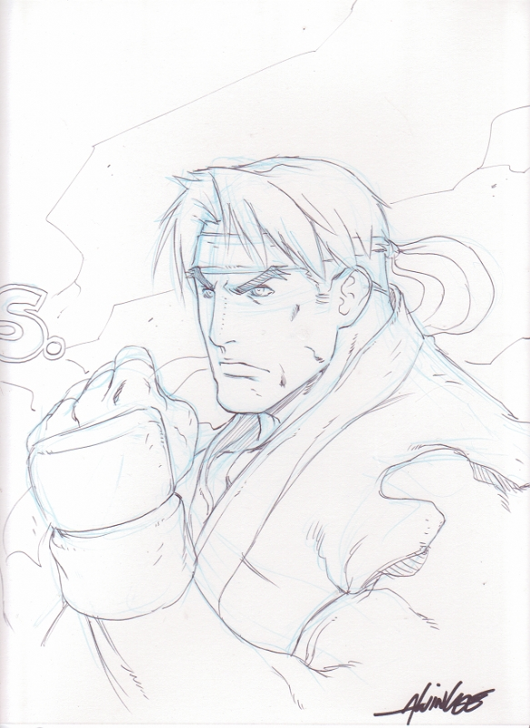 Alvin Lee Ryu Street Fighter Sketch In Kevin Stryker S Artist