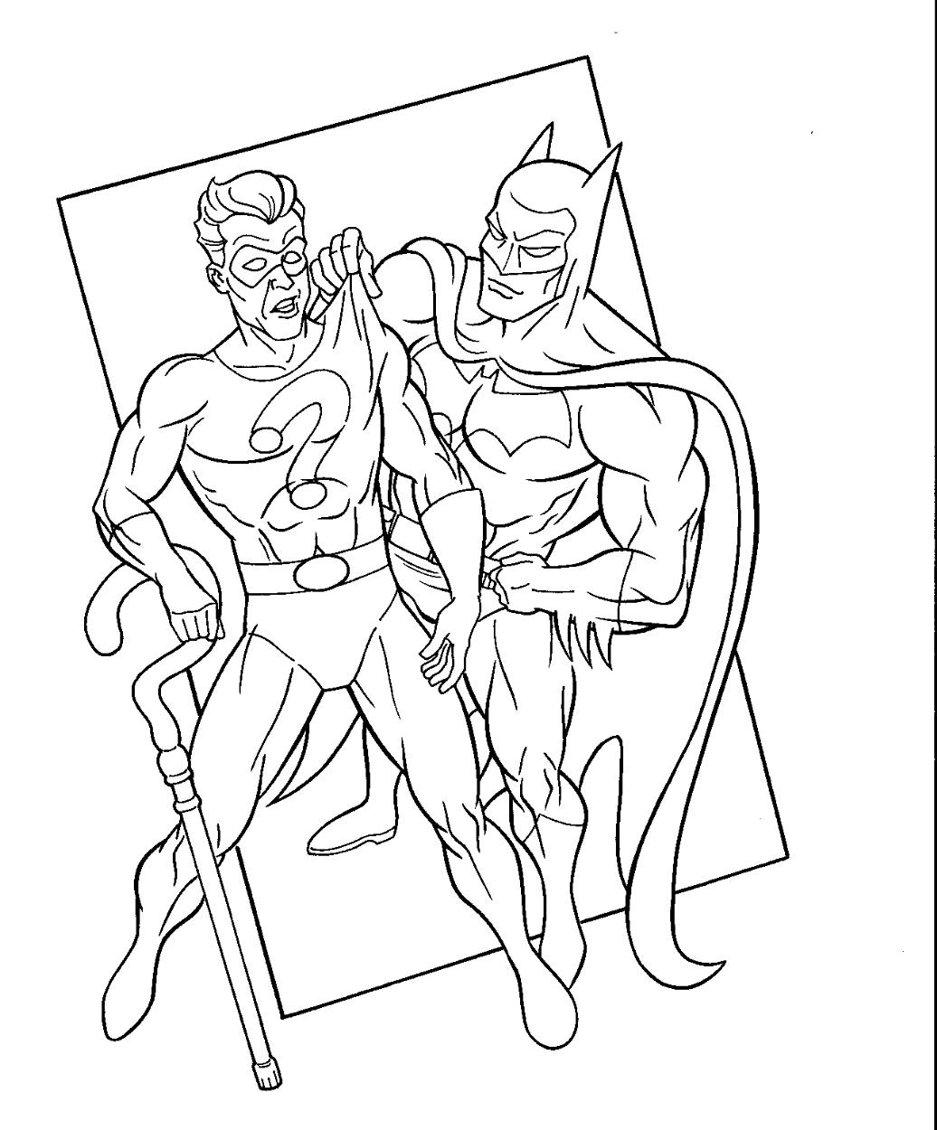 Batman Riddler In The Batfan S Batman Coloring Book Pages 3 Comic Art Gallery Room