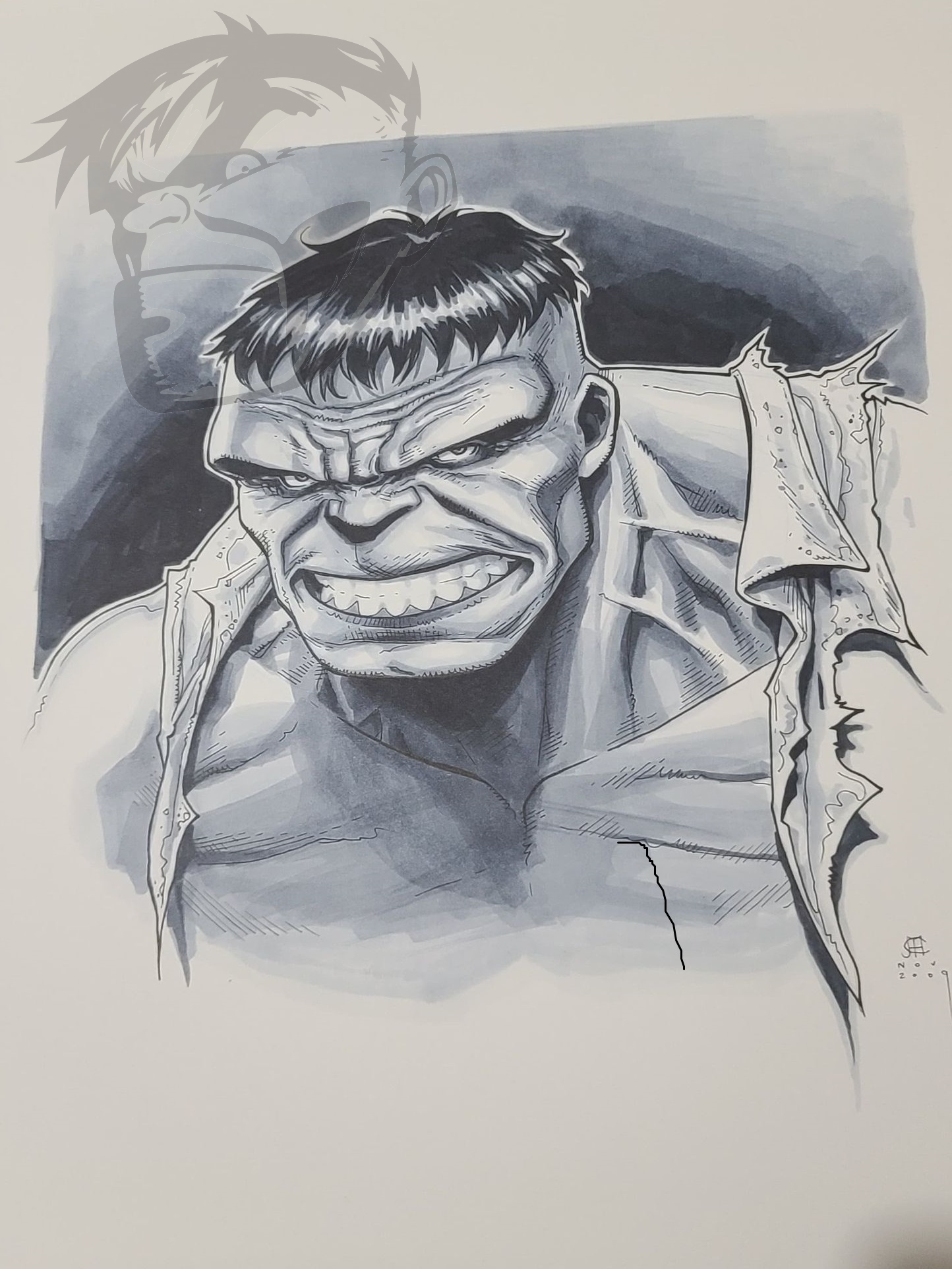 Jim Cheung Hulk  Comic Art