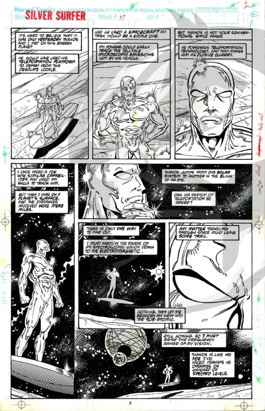 Silver Surfer  issue 37 page 2 by Ron Lim  Comic Art