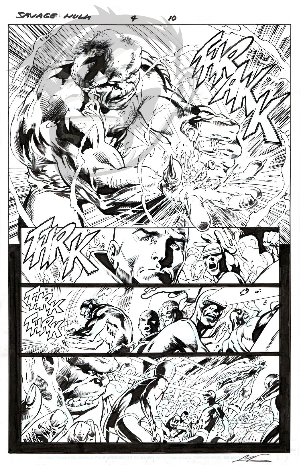 2014 Savage Hulk issue 4 page 10 Hulk and X-men by Alan Davis and Mark Farmer Comic Art