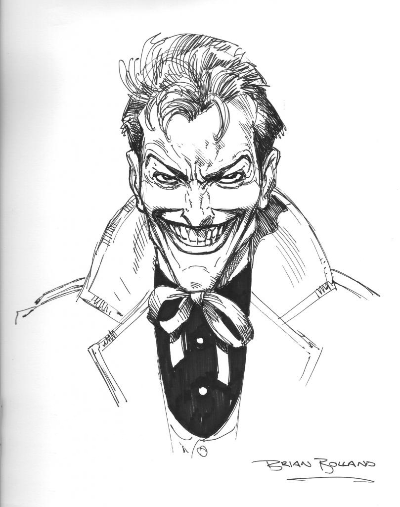 Bolland Joker Sketch 1998 In Fab Tag S United Kingdom Bolland Brian Comic Art Gallery Room