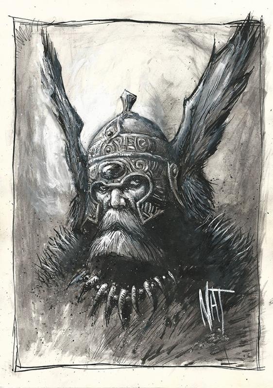 Viking Warrior By Nat Jones In Ian Nichols S Nat Jones Comic Art Gallery Room