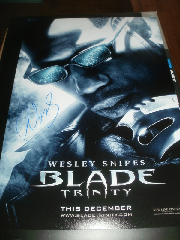Blade Trinity Signed Poster Wesley Snipes In Michael Hosey S Signed Movie Posters Comic Art Gallery Room