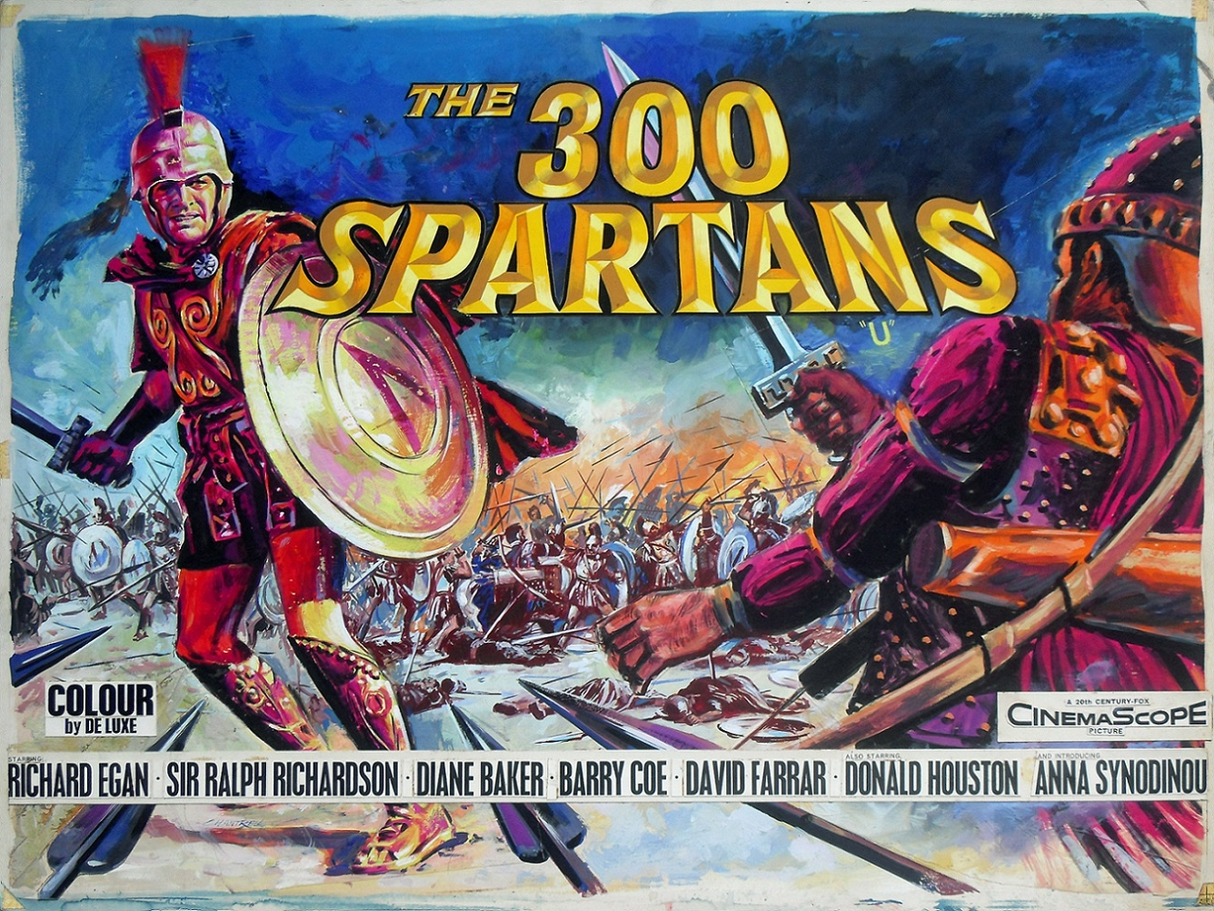 THE 300 SPARTANS (1962) - movie poster painting, in Terry Doyle's ...