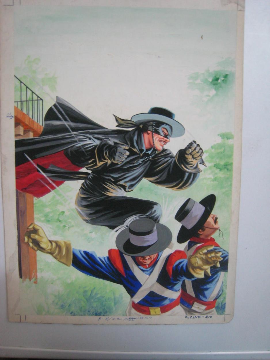 El Zorro Portada De Clasicos Del Cine 210 Editorial Novaro