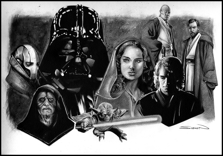 Star Wars Episode 3 In Randy Siplon S Star Wars Art Comic Art Gallery Room