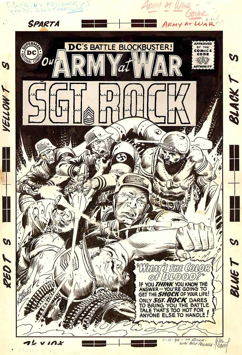 Our Army at War #160, Cover Comic Art