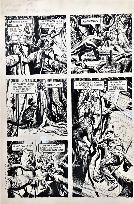Turok Son Of Stone 32 Page 12 Western 1963 In Steve Kriozere S Misc Art Indy Publishers Comic Art Gallery Room
