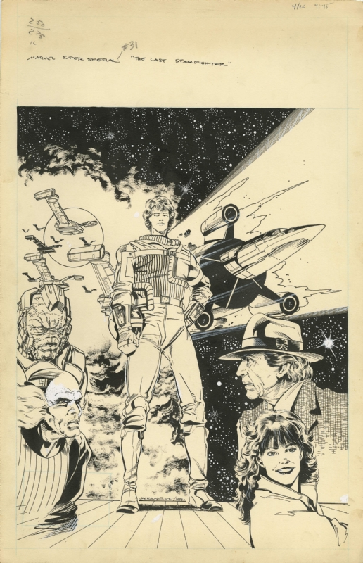 The Last Starfighter Marvel Super Special 31 Cover In Adam Harvey S Comics Comic Art Gallery Room Категория веб в жанре яой, научная фантастика, фантастика. marvel super special 31 cover in adam