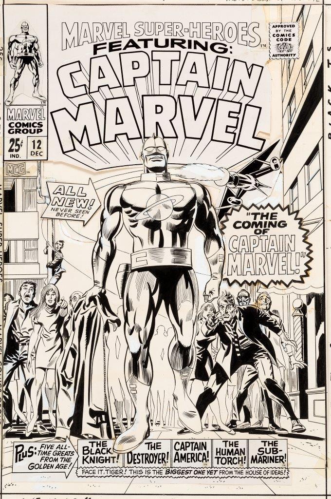 Marvel Super Heroes 12 1 Cover In James Halperin S Comic Cover Art Comic Art Gallery Room
