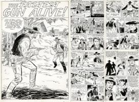 HECK - Gunsmoke Western #63 pages 26-30 Comic Art
