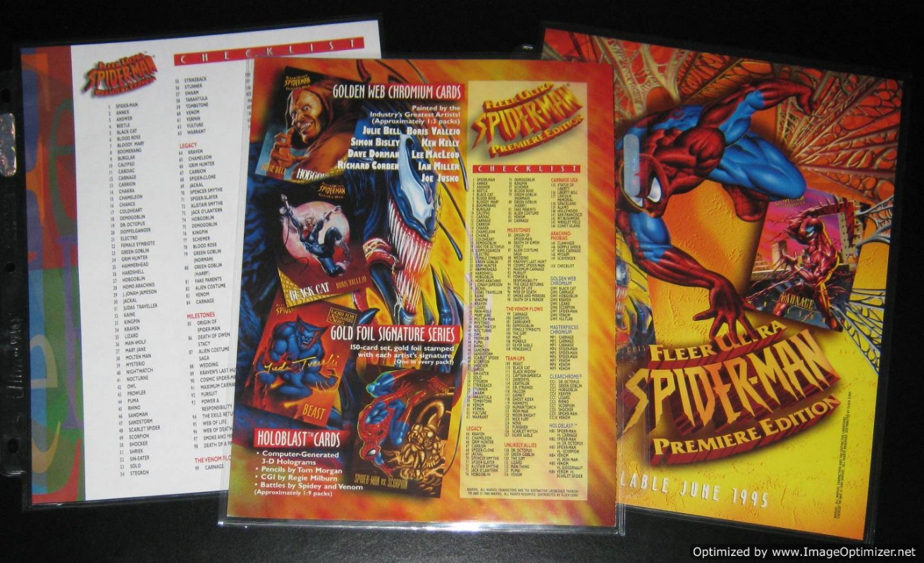 SPIDERMAN ULTRA 95 MASTERPIECE CARD 8 OF 9