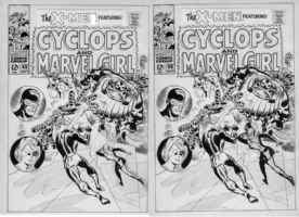 HECK - Unc. X-Men #48 cover- Unpub Comic Art