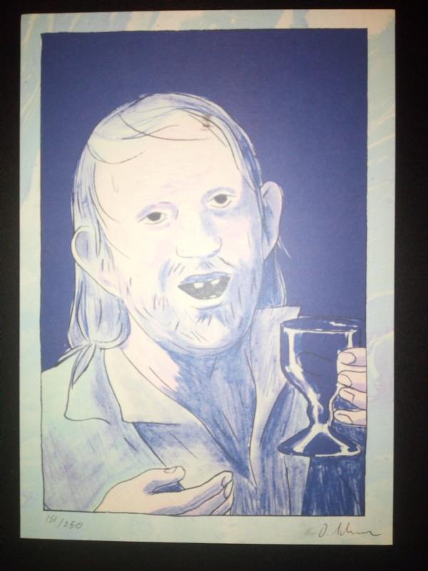 Exlibris Olivier Schrauwen Guy Retrato De Un Bebedor In Juan Luis Iglesias S Sketches And Signed Books Comic Art Gallery Room