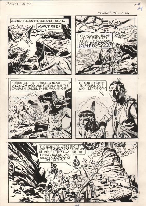 Turok Son Of Stone 106 Page 24 In Alexander Hloderwski S Turok Son Of Stone 106 Comic Art Gallery Room