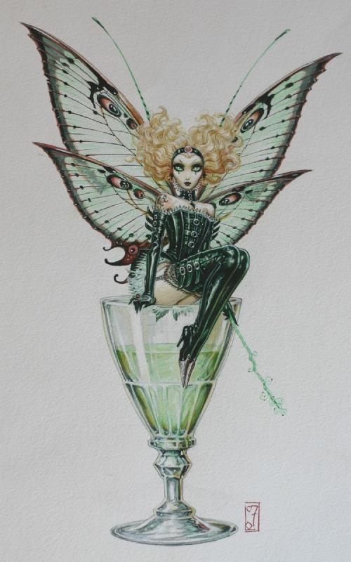 Fee Absynthe Absinthe Fairy In Damien C S Olivier Ledroit Comic Art Gallery Room