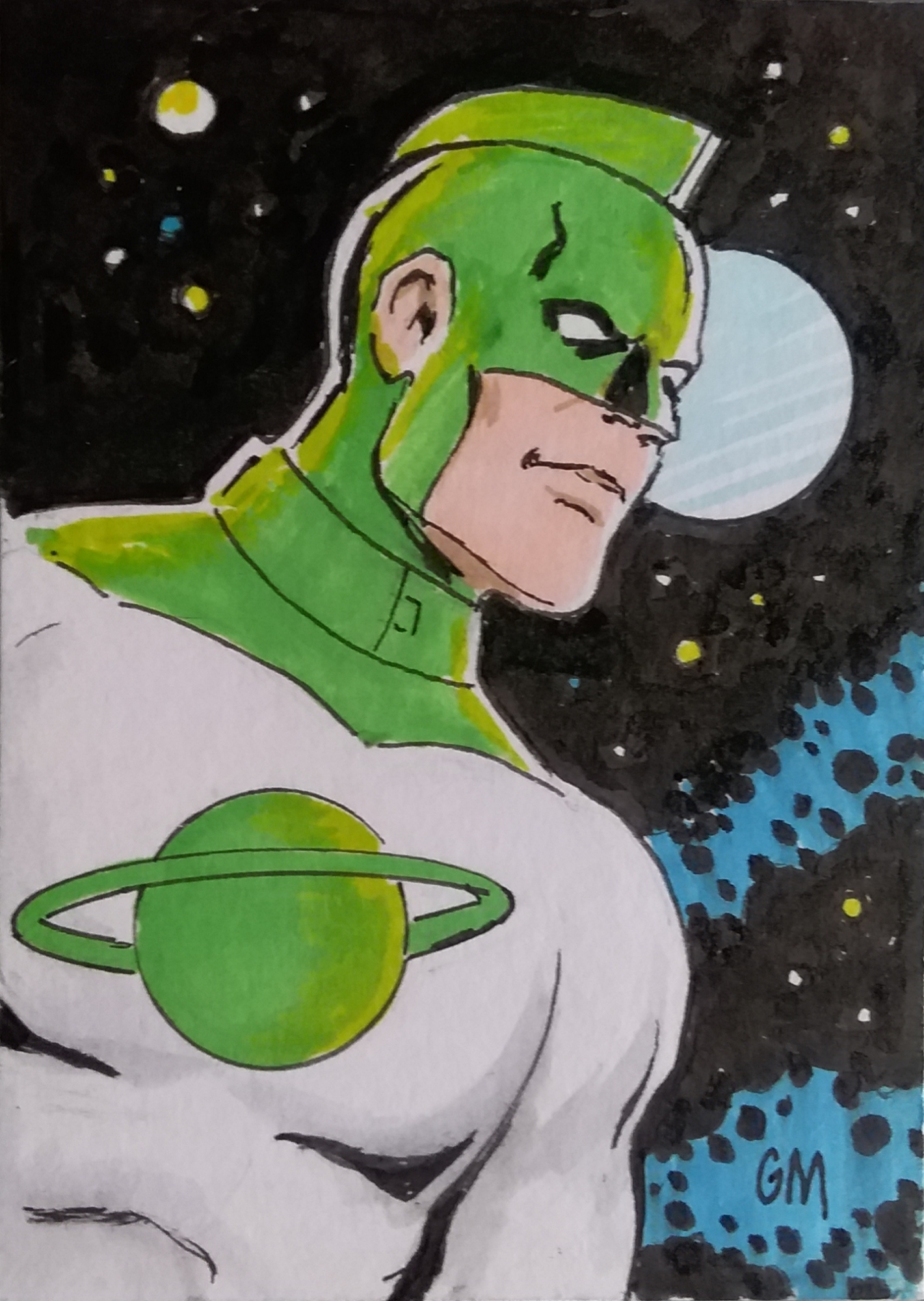 Captain Marvel Mar Vell Green And White Costume Sketch Card In Arthur Chertowsky S Marvel Sketch Cards Not Part Of Sets Various Artists Comic Art Gallery Room Captain america's uniform were sets of uniforms used by captain steve rogers which served as his outfit during his superhero exploits. captain marvel mar vell green and