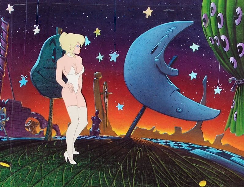 Bakshi Cool World 1992 Here Is Holli In Pierre A S Anime Animation Cells Comic Art Gallery Room