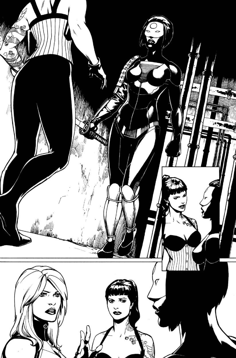 Comic Art Shop Erfauki D S Comic Art Shop Birds Of Prey Katana Stacey And Black Canary The Largest Selection Of Original Comic Art For Sale On The Internet