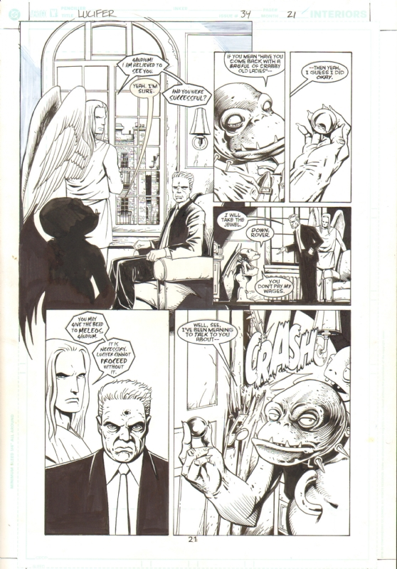 Lucifer 34 Pg 21 In James Corum S Lucifer Issues 33 43 Comic Art Gallery Room