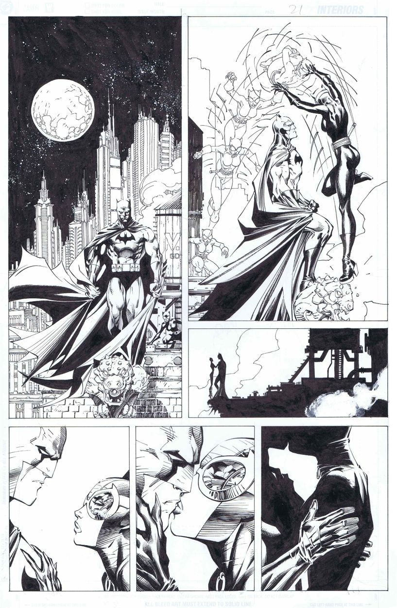 Batman Hush 1st Catwoman Kiss 610p21 Jim Lee In Alex B S My Favorite Runs Comic Art Gallery Room