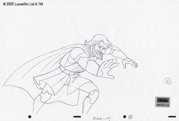 Original Production Drawing Of Obi Wan Kenobi In Mark Perry S