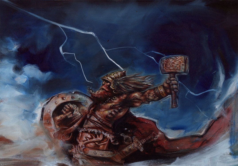 Mjolnir Thor S Hammer In Jeff Lafferty S Fantasy Art Comic Art